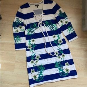 Striped floral Juicy Couture beach dress